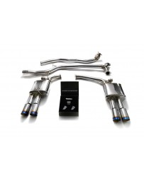 ARMYTRIX Stainless Steel Valvetronic Catback Exhaust System Quad Blue Coated Tips Audi A5 2D Quattro 2008-2015