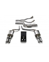 ARMYTRIX Stainless Steel Valvetronic Catback Exhaust System Quad Chrome Silver Tips Audi A5/S5 2D B8 3.0L TFSI V6 2008-2016