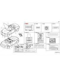 350z DE Z33 Nissan OEM Label Emission Control Information 05-07