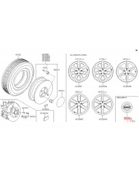 350z DE Z33 Nissan OEM Ornament Disc Wheel