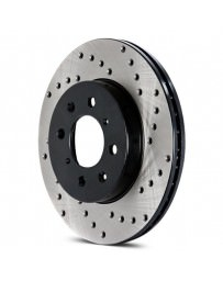 Mustang 2015+ StopTech Drilled Sport Front Passenger Side Brake Rotor