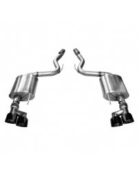 Mustang 2015+ Corsa 3in Axle Back Exhaust Black Quad Tips (Touring)