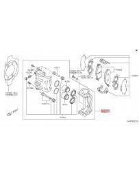 370z Z34 Nissan OEM Caliper Assembly, Akebono Sport, Front RH, Gray