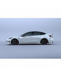 Artisan Spirits Black Label Side Under Spoiler (FRP) - Tesla Model 3 2017+