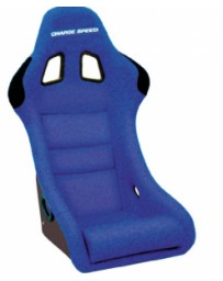 ChargeSpeed Bucket Racing Seat Shark Type FRP Blue