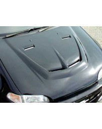 ChargeSpeed 92-95 Civic Coupe/ HB Vented Carbon Hood
