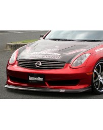 ChargeSpeed 06-07 Infiniti G35 Bottom Line Front Lip Carbon