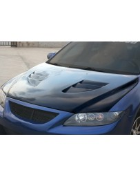 ChargeSpeed Mazda 6 FRP Vented Hood