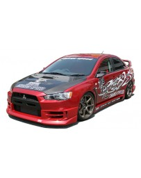 ChargeSpeed 08-16 Evo X Half Type Full Lip Kit