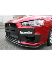 ChargeSpeed 08-16 Evo X Bottom Line Type-2 Front Lip Carbon