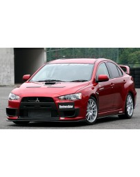 ChargeSpeed 08-16 Evo X Bottom Line Type-1 Front Lip Carbon