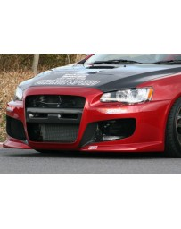 ChargeSpeed 08-16 Mitsubishi Lancer Evo X Type-1 Front Bumper