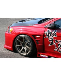 ChargeSpeed 08-17 Evo X 20MM D-1 Wide Front Fenders FRP Pair
