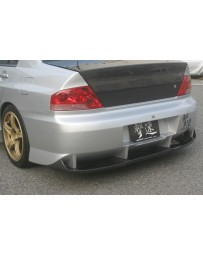 ChargeSpeed Evo VII, VIII & IX Type2 Rear Bumper With Carbon D