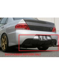 ChargeSpeed 06-07 Lancer EVO 9 Carbon Diffuser for EVO 9 RB