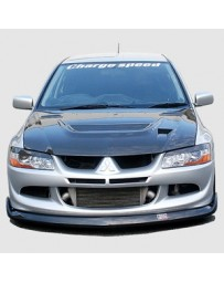 ChargeSpeed 03-05 Evo VIII Bottom Line Front Lip FRP