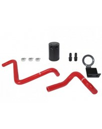 Toyota GT86 Mishimoto Red PVC Side Baffled Oil Catch Can