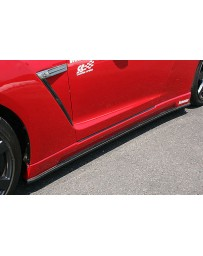 ChargeSpeed 2007-2020 Nissan GTR BottomLine Side Skirt FRP