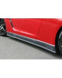 ChargeSpeed 2007-2020 Nissan GTR BottomLine Side Skir Gloss CF