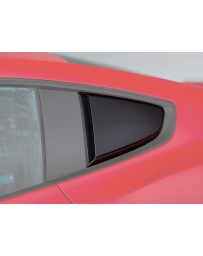 ROUSH Performance 2015-2020 Mustang Quarter Window Scoops (Painted Black)