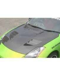 ChargeSpeed Nissan 350Z Vented FRP Hood Fiberglass