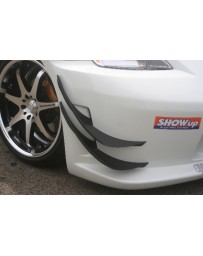 ChargeSpeed 350Z Carbon Upper and Lower Canards For CS Bumper